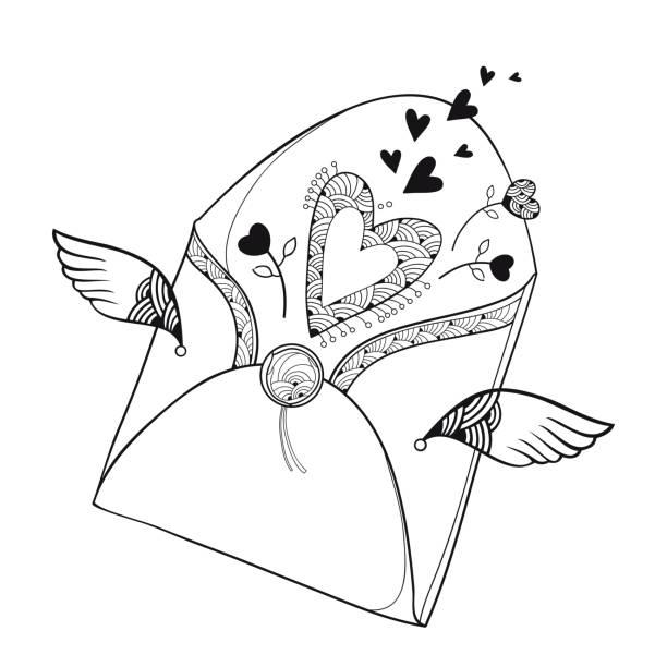 Herz Ausmalbild Vektorgrafiken und Illustrationen - iStock