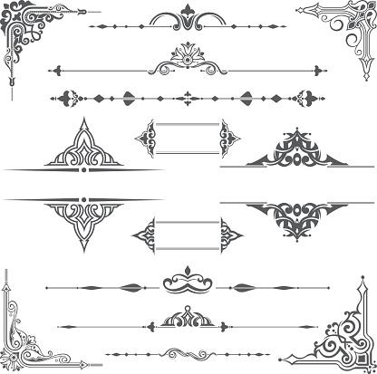 Vector ornate ornament design element
