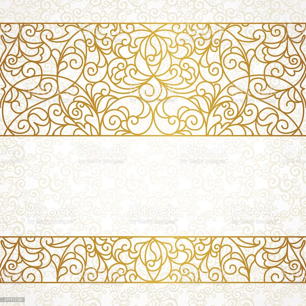 Vector ornate seamless border in Eastern style. vector art illustration