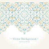 Vector ornate seamless border in Eastern style