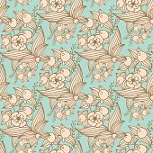 Vector other flowers seamless decorative pattern