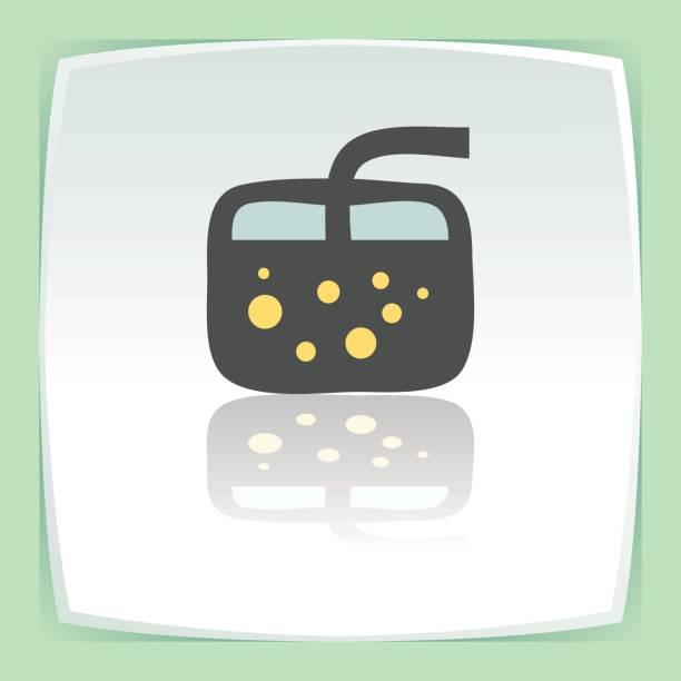 vektor umriss cocktailglas mit limonade trinken symbol. moderne ikone. - cocktailsauce stock-grafiken, -clipart, -cartoons und -symbole