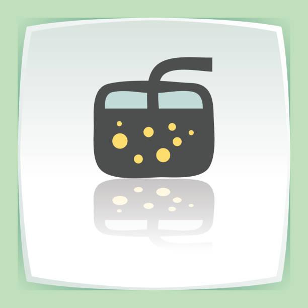 vektor umriss cocktailglas mit limonade trinken symbol. modernes logo. - cocktailsauce stock-grafiken, -clipart, -cartoons und -symbole