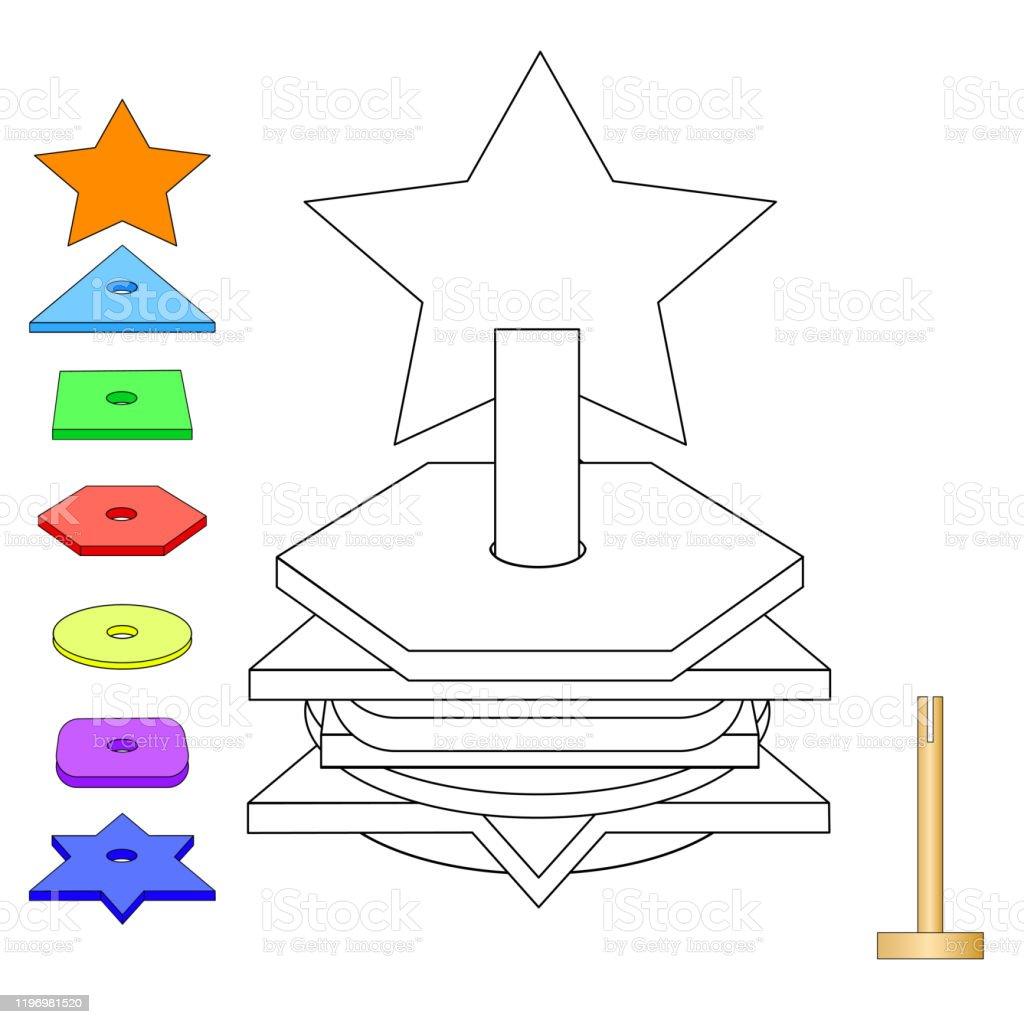 Vektor Anahat Illustrasyon Okul Oncesi Cocuklar Icin Cok Renkli