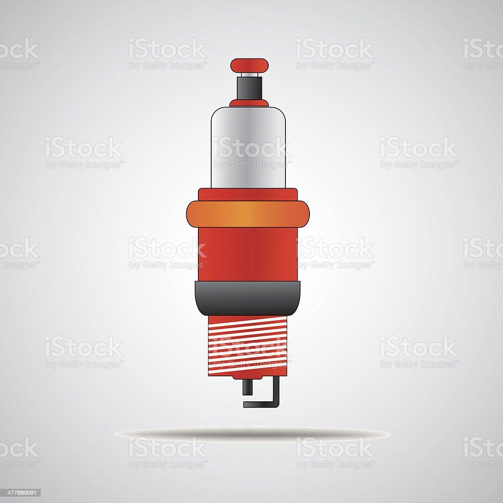 vector outline spark-plug royalty-free stock vector art