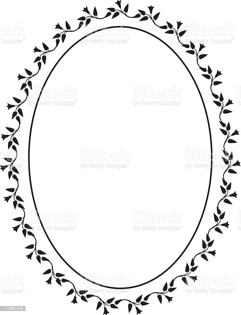 Vector oval decorative frame royalty-free vector oval decorative frame stock vector art & more images of art