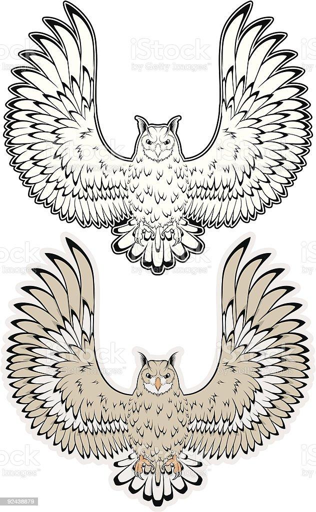 vector owl + B&W royalty-free stock vector art