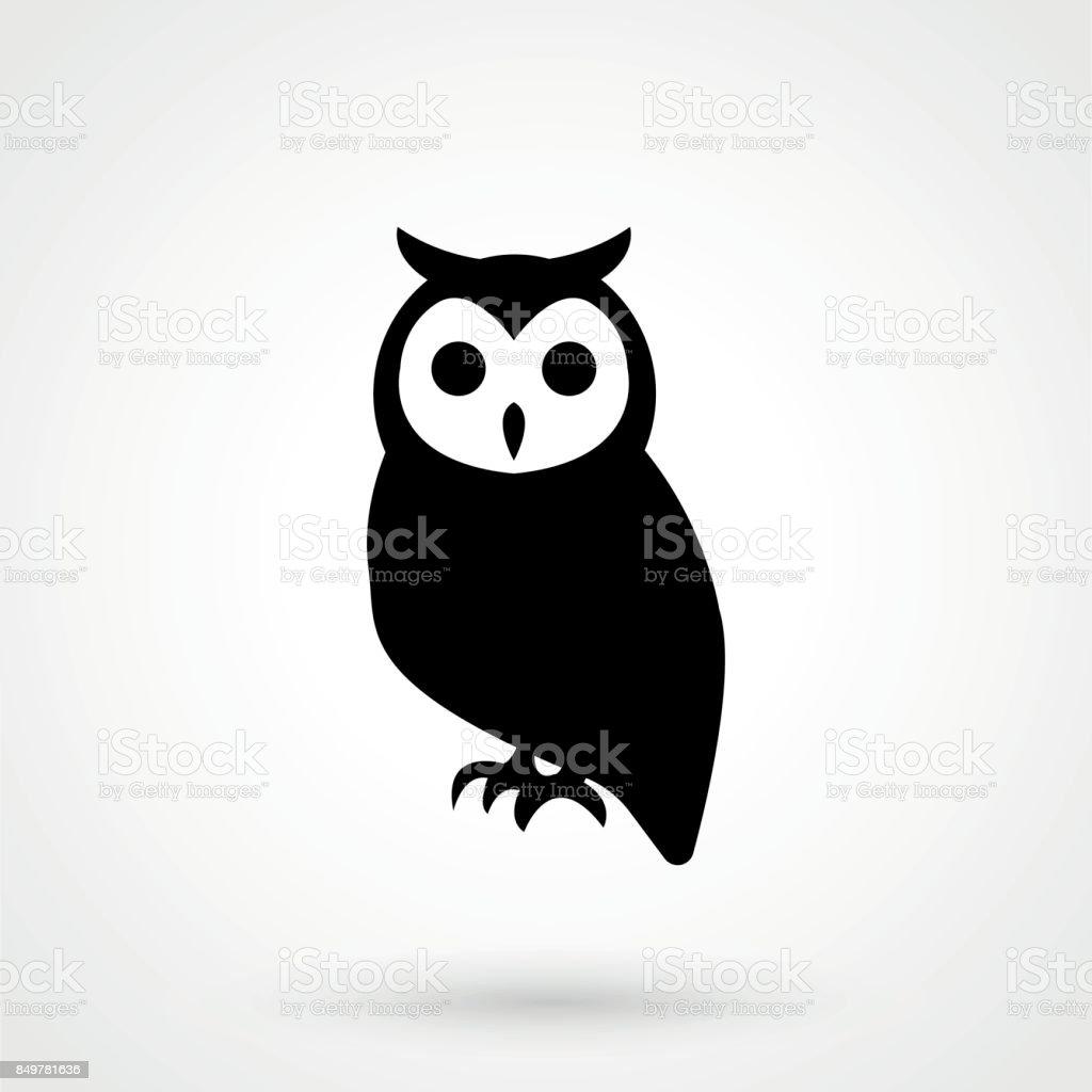 Icono de vector búho. Logo del buho - ilustración de arte vectorial