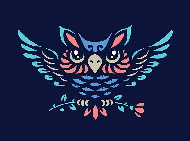 Vector owl illustration vector art illustration