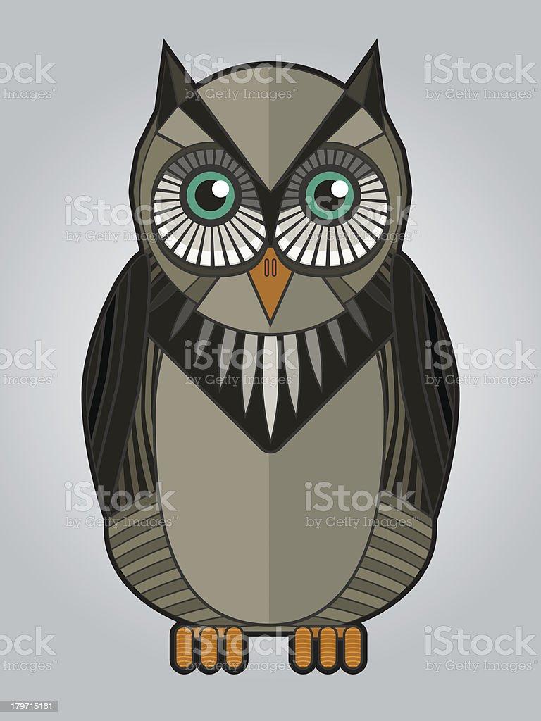 vector owl royalty-free stock vector art