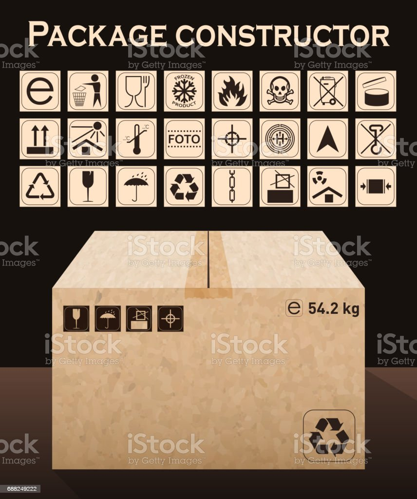 Vector package constructor with box packaging symbols icon set vector package constructor with box packaging symbols icon set including waste recycling fragile buycottarizona