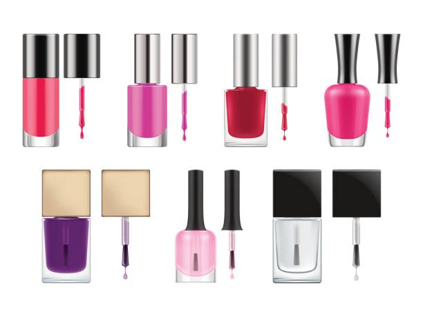 Best Nail Polish Bottle Illustrations, Royalty-Free Vector