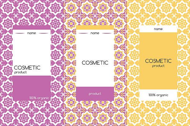 vektor-design-elemente für kosmetika verpackung - naturseife stock-grafiken, -clipart, -cartoons und -symbole