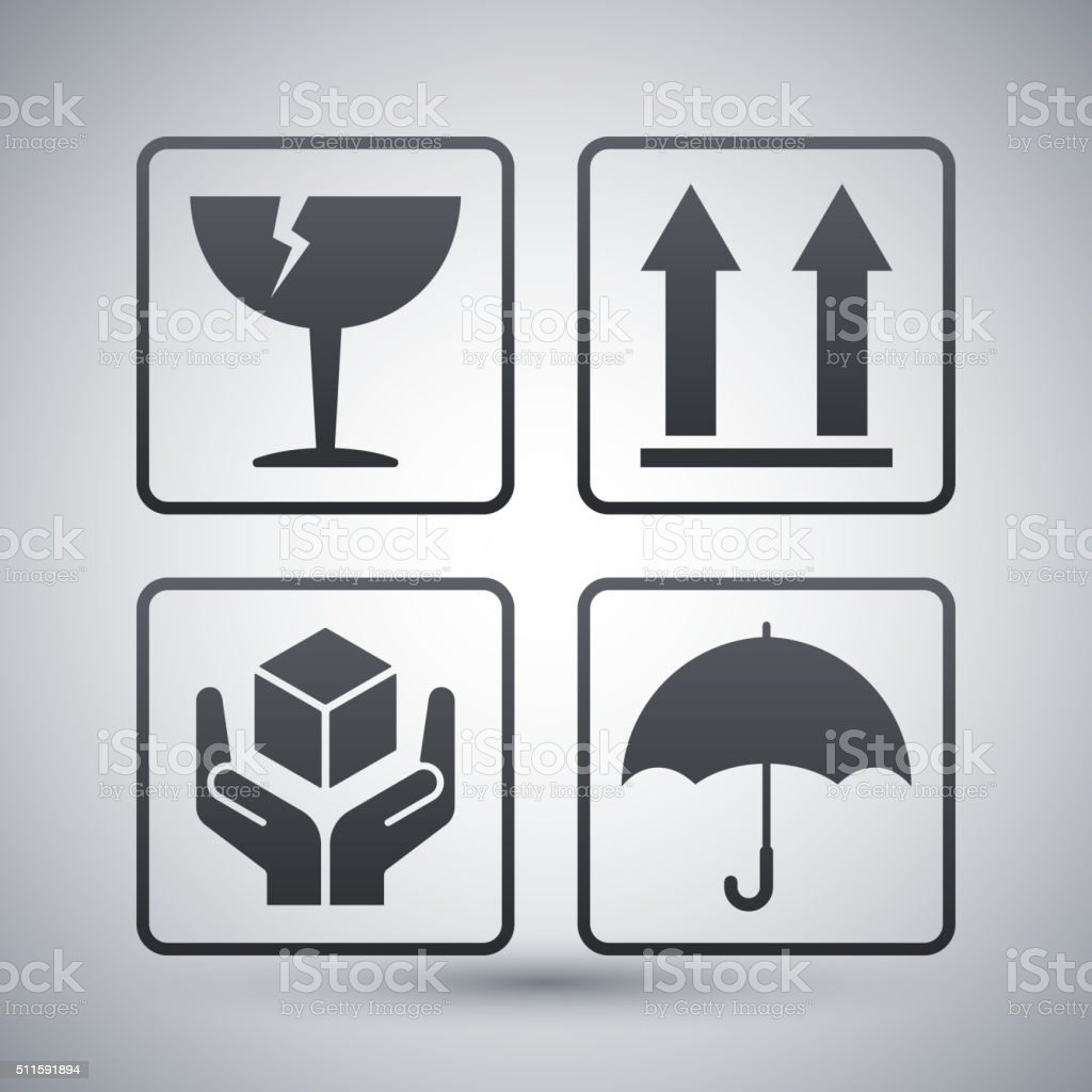 Vector packaging symbols vector art illustration