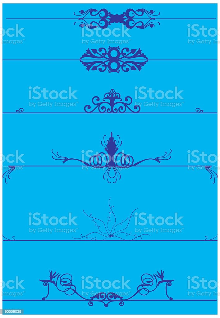 Vector Page Dividers royalty-free stock vector art