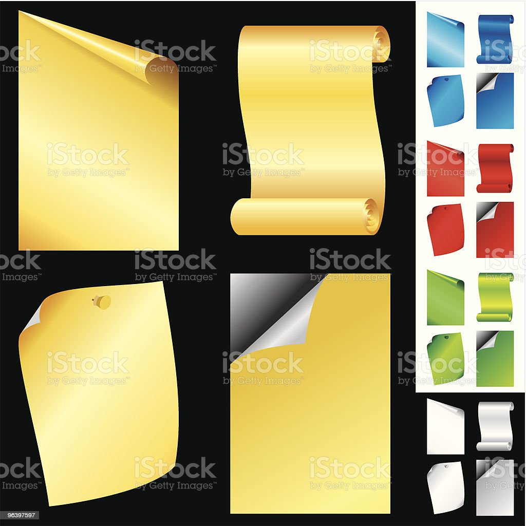 vector pages multicolor - Royalty-free Art stock vector