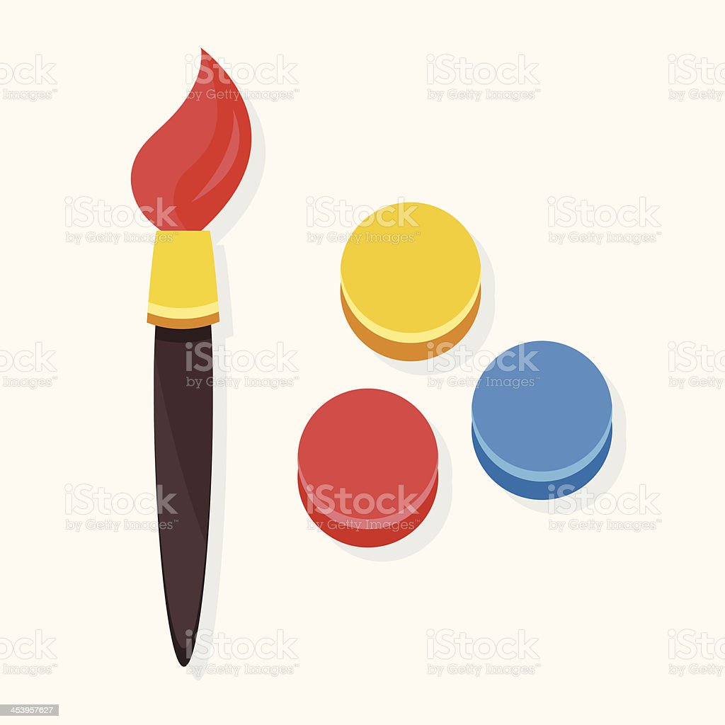 Vector Paint Brush and Color Palette Icon royalty-free stock vector art