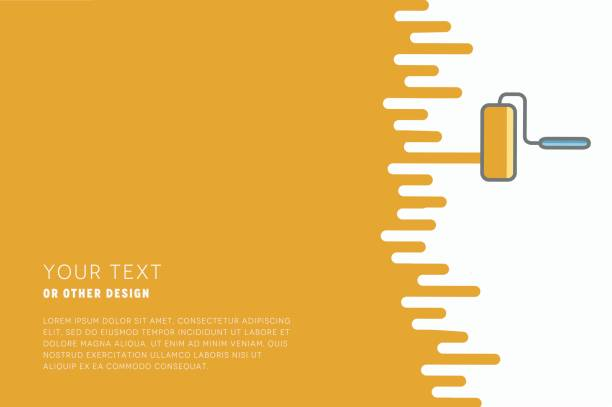 Vector paint roller with paint and space for text or other design. Vector paint roller with paint and space for text or other design. house painter stock illustrations