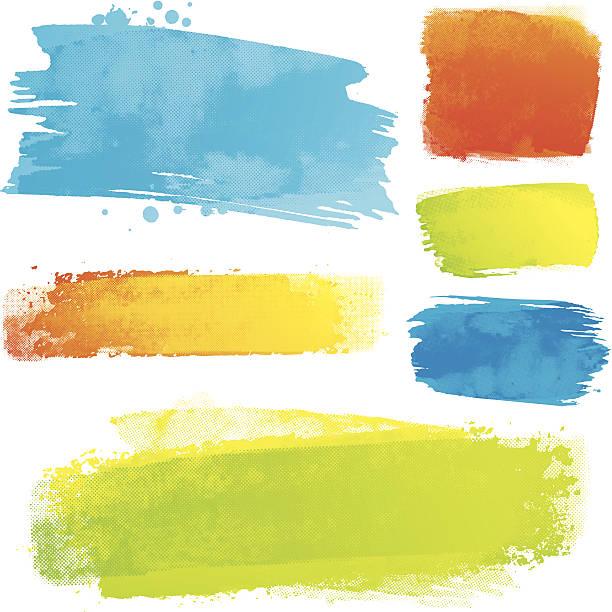 Vector paint strokes vector art illustration