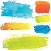 Vector paint strokes