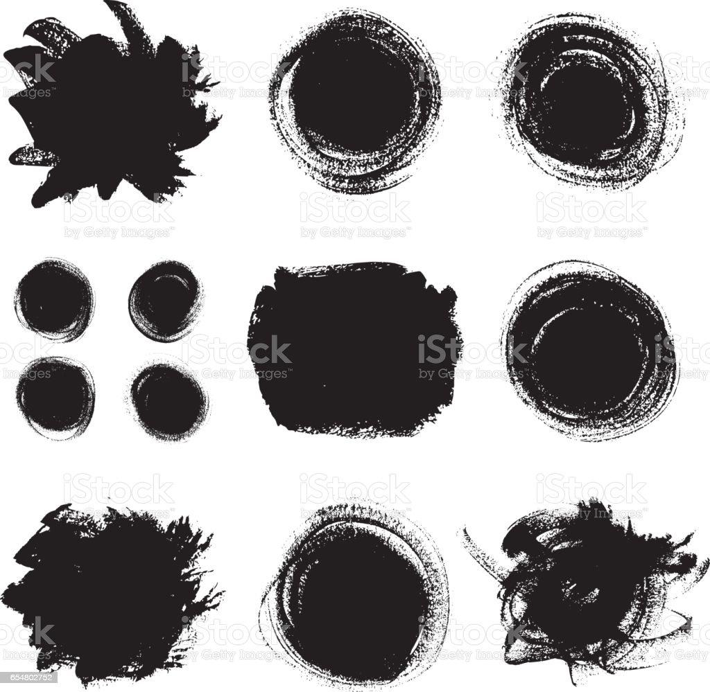 Vector paint textures set. vector art illustration