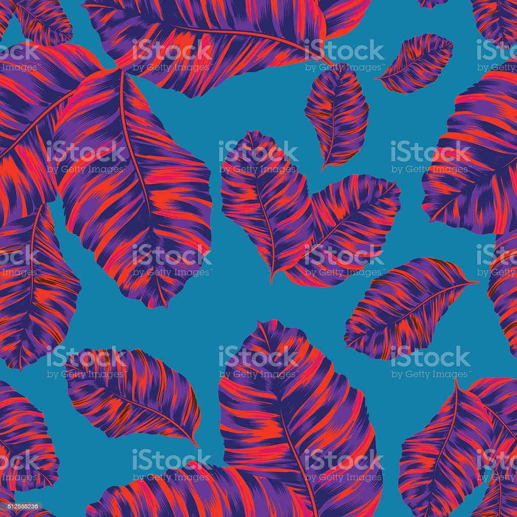 vector palm leaves pattern vector art illustration