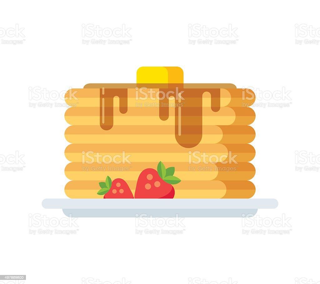 Vector pancakes icon vector art illustration