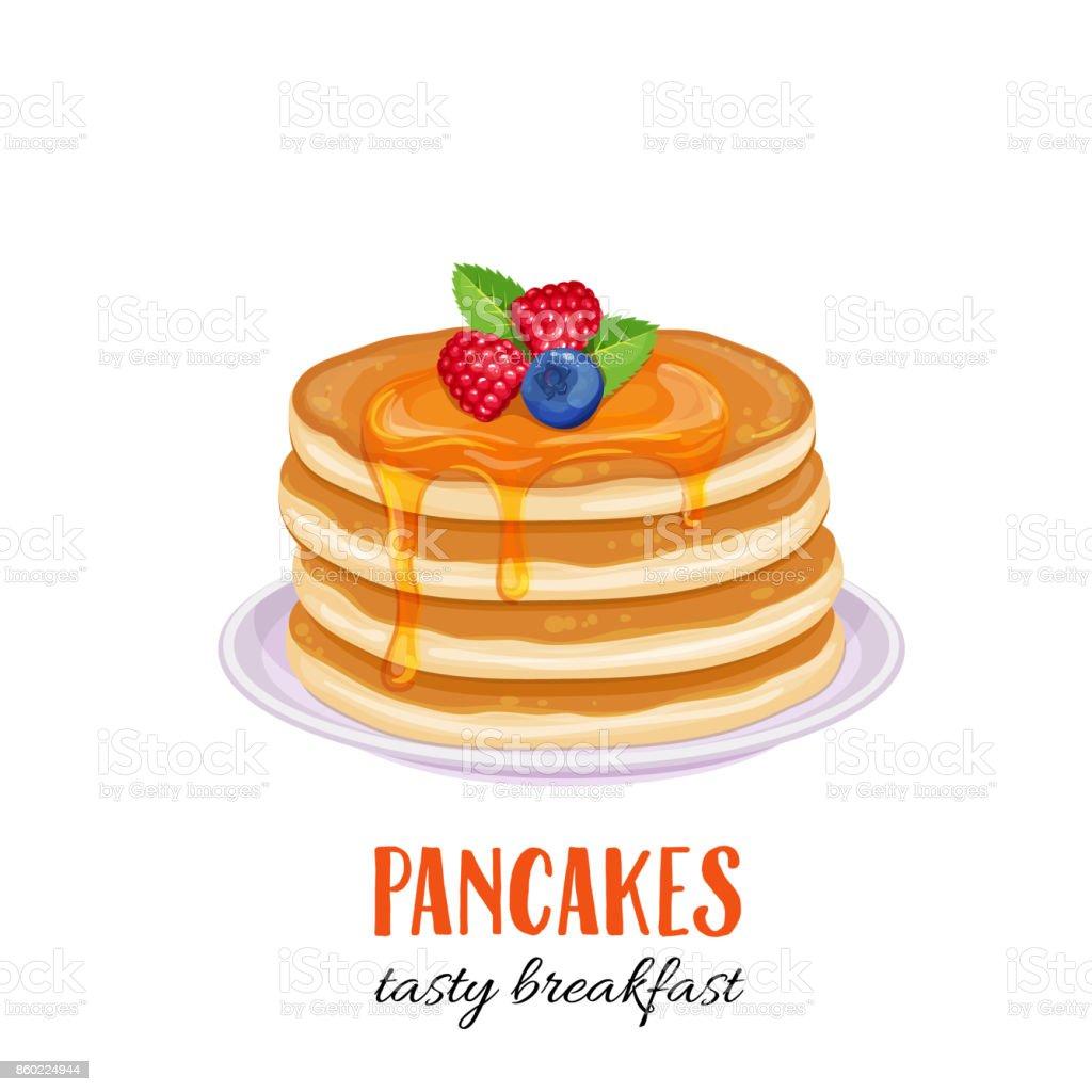 Vector pancakes illustration. vector art illustration