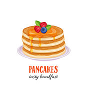 Vector pancakes illustration.