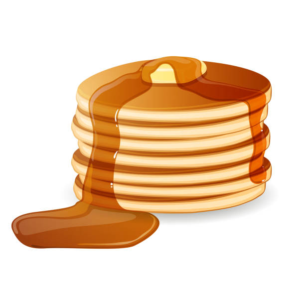 Vector Pancakes vector art illustration