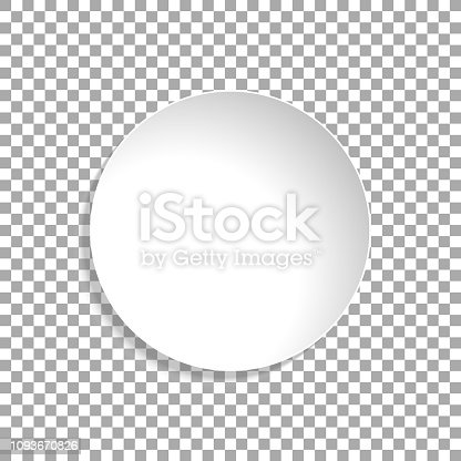 Circle, Background, Sticker, White