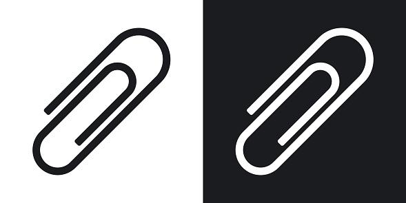 Vector paper clip icon. Two-tone version