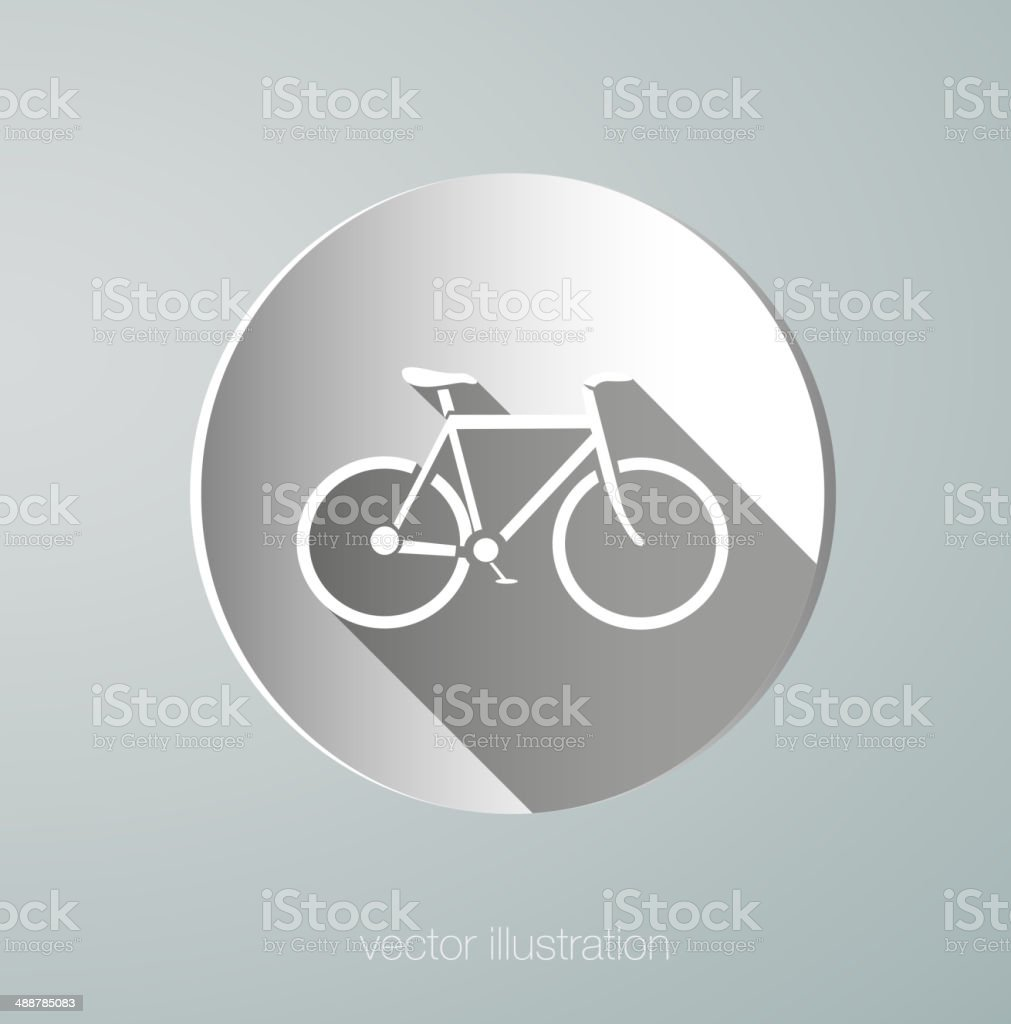 vector paper icon bicycle vector art illustration