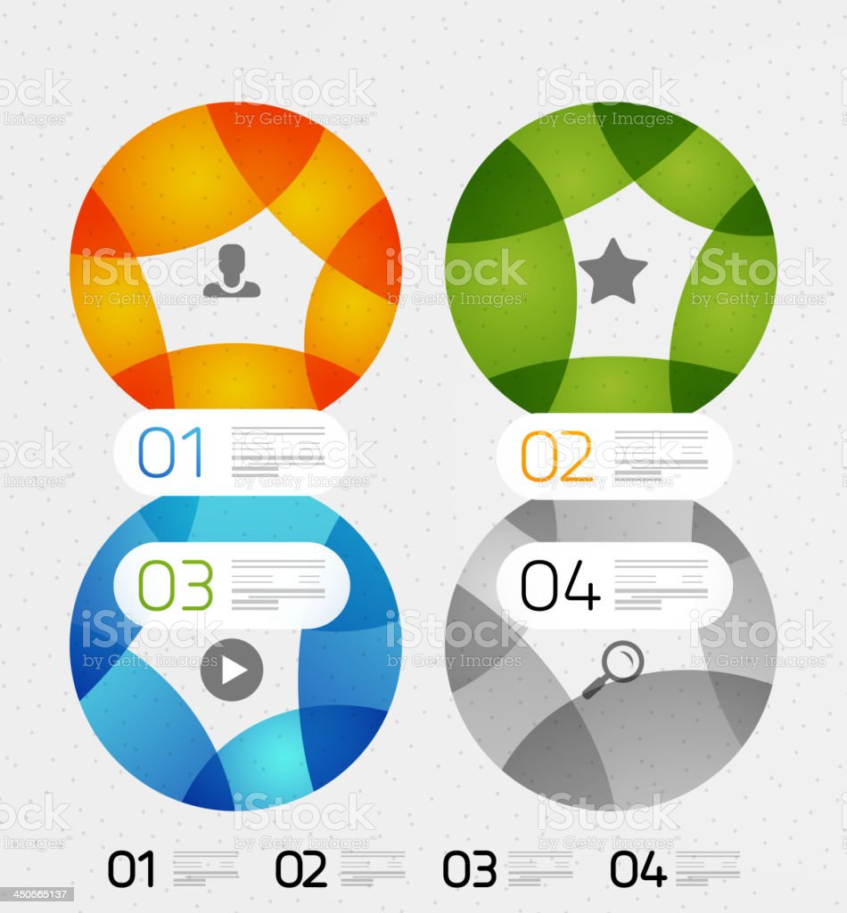 Vector paper infographic background royalty-free stock vector art