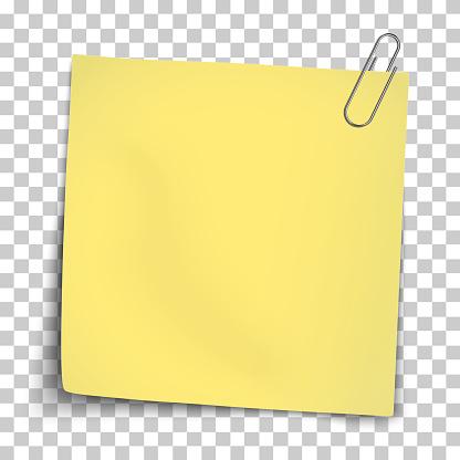 vector paper mockup of yellow note attached by metallic paper clip vector id1136831206?k=6&m=1136831206&s=170667a&w=0&h=g1Esm siQyGSJ A QM3WSSJvv5kHRXwnRFXnJo7F4es=