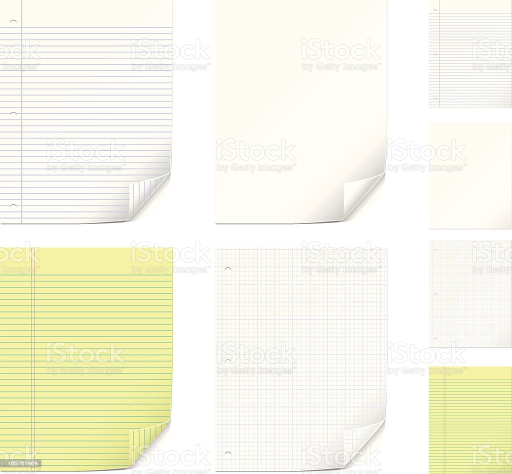 Vector Paper Set royalty-free vector paper set stock vector art & more images of blue