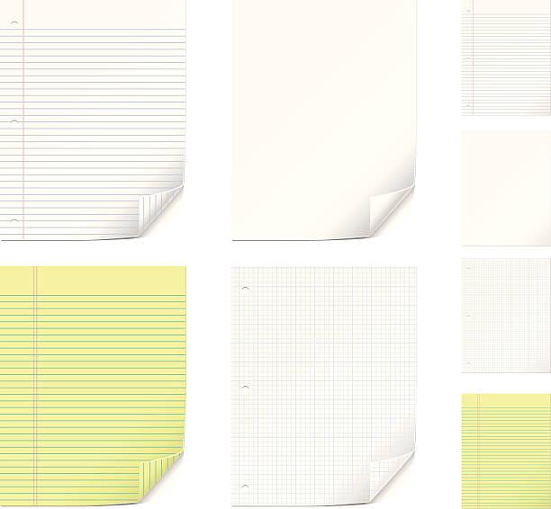 ilustraciones, imágenes clip art, dibujos animados e iconos de stock de vector conjunto de papel - fondos arrugados