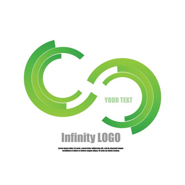 Vector : Part of circle infinity logo vector art illustration