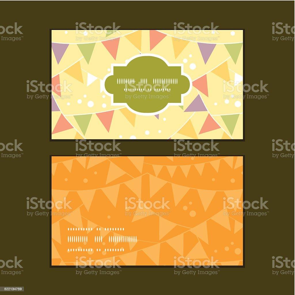 Vecteur Des Decorations De Fete Bebe Cartes Visite Horizontale Motif Ensemble Stock Libres