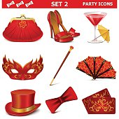 Vector Party Icons Set 2