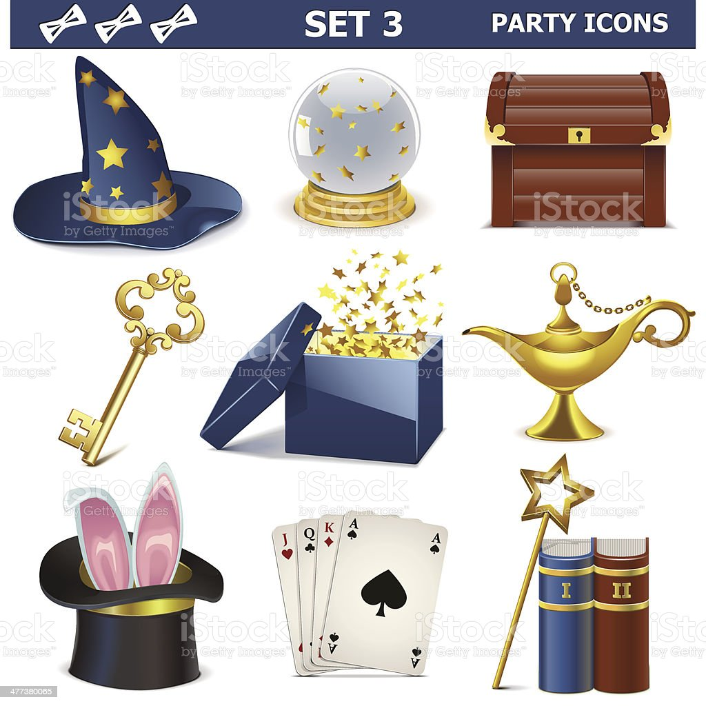 Vector Party Icons Set 3 vector art illustration