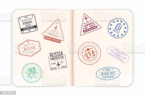 Vector passport with visa stamps open passport pages with airport vector id884265704?b=1&k=6&m=884265704&s=612x612&h=jh0js7oidpo83rllmqqlakwmg2w nxm47 vkh6edywa=