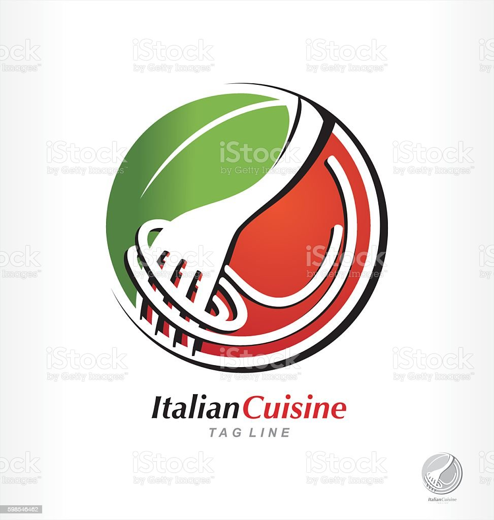 Vector pasta logo, spaghetti symbol, Italian cuisine restaurant. vector pasta logo spaghetti symbol italian cuisine restaurant – cliparts vectoriels et plus d'images de illustration libre de droits