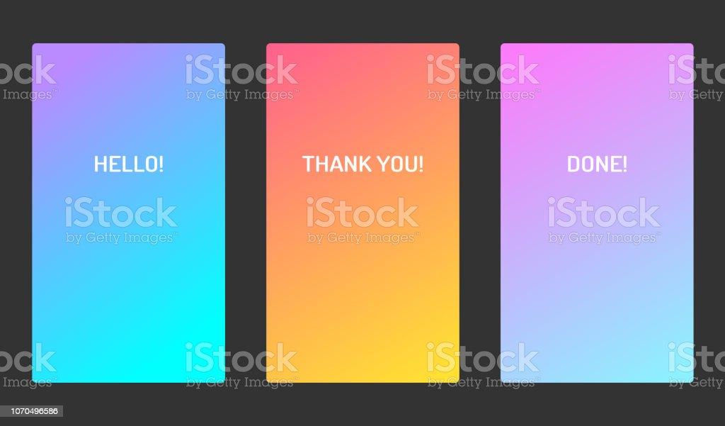 Vector pastel soft color ui design mobile app screen. Bright gradient. For applications, banners and landing pages векторная иллюстрация