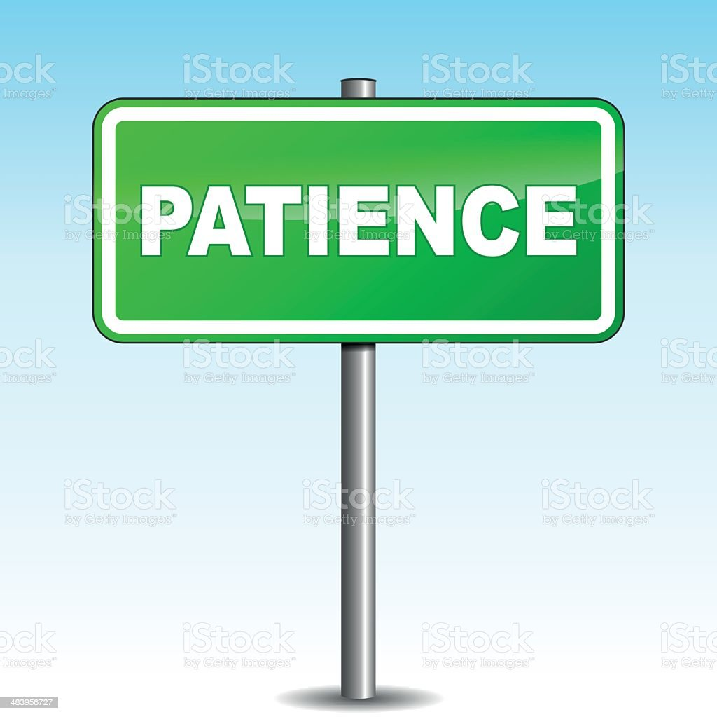 Vector patience signpost royalty-free stock vector art