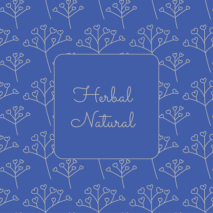 Vector patten for cosmetics with label template design. Pattern or wrapping paper for package and beauty salons.herbal label for natural cosmetics and herbal tinctures, for web page phytotherapy shop