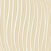 Vector pattern abstract Wheat Ear Blowing In The Wind pattern dark blue and gold pattern for wallpapers, textile, packaging, design of luxury products - Vector Illustration