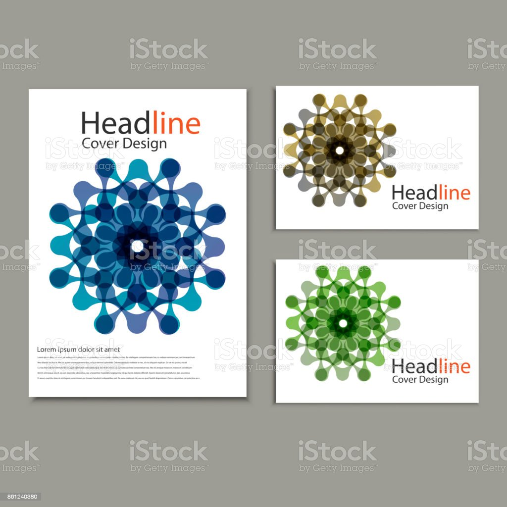 Vector pattern brochure  with abstract figures vector art illustration