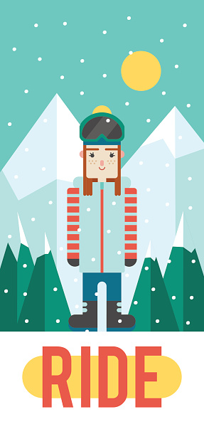 Vector pattern for your phone case with nice snowboarder