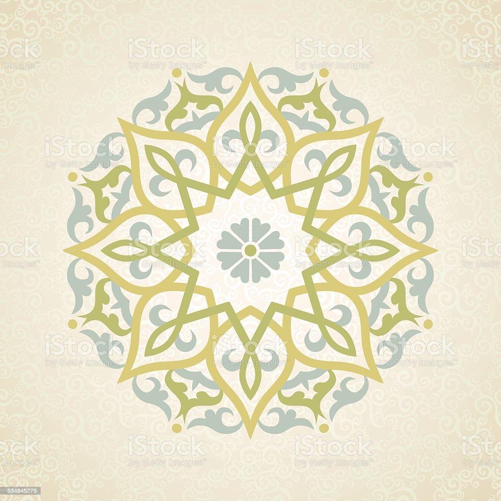 Vector pattern in Eastern style. vector art illustration